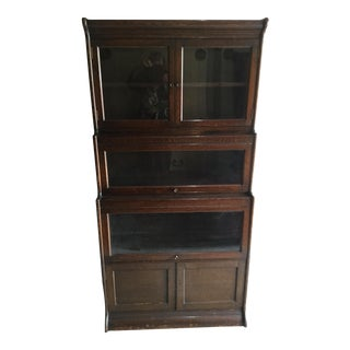 Oak Stacking Lawyer's Bookcase For Sale