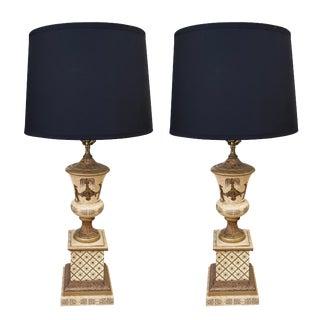 Italian Chinoiserie Lamps, Pair