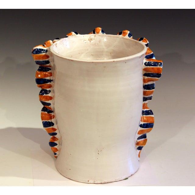 Large Italian Sicilian Pottery Head Vase For Sale - Image 4 of 11