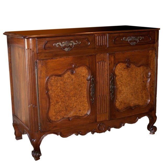 18th C. Louis XV Period Walnut & Elm Buffet For Sale - Image 11 of 11