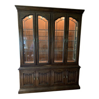 1980's Drexel Display Dining Hutch For Sale