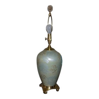 Wildwood Lamps & Accents Abilene Brass and Porcelain Table Lamp For Sale