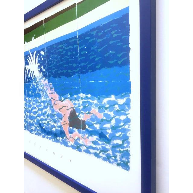 "David Hockney Rare Vintage 1994 Iconic Lithograph Print Large Framed Poster "" Le Plongeur ( Paper Pool 18 ) "" 1978 For Sale - Image 11 of 13"