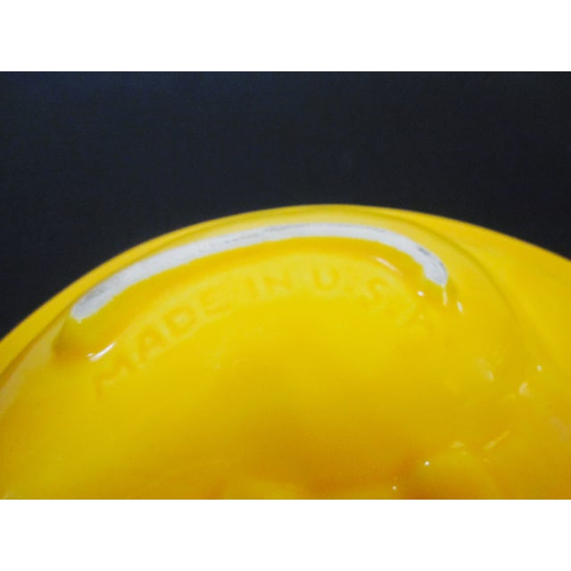 Mid-Century Modern Atomic Yellow Ashtray Dish - Image 7 of 8