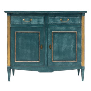 Antique Directoire Style Teal Buffet For Sale