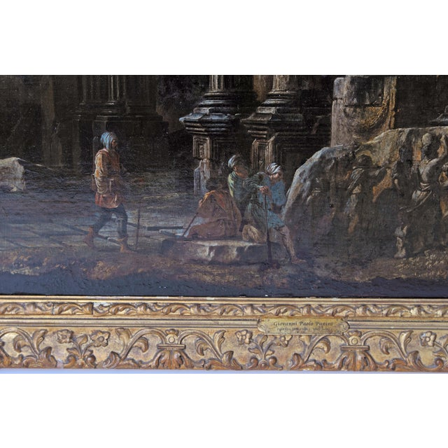 Baroque Painting / Classical Ruins Attributed to Giovanni Ghisolfi (1623-1683) For Sale - Image 10 of 13