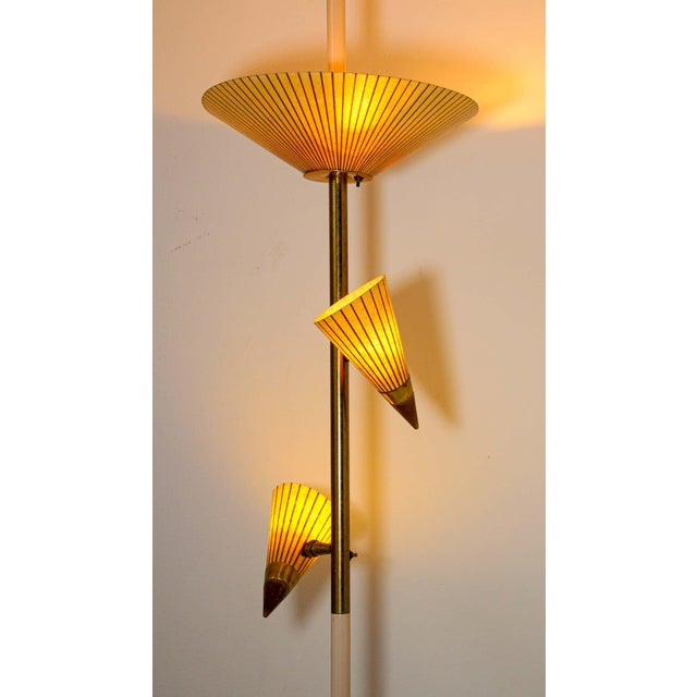 1950s 1950s Adjustable Vintage Three Shades Extension Pole Lamp by Gerald Thurston For Sale - Image 5 of 13