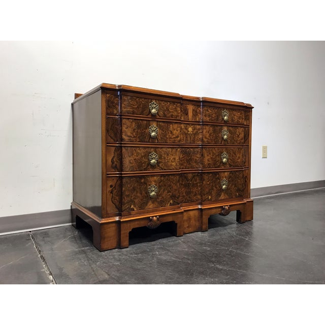 Early 20th Century Burl Walnut Block Front Bachelor Chest of Drawers - Image 2 of 11
