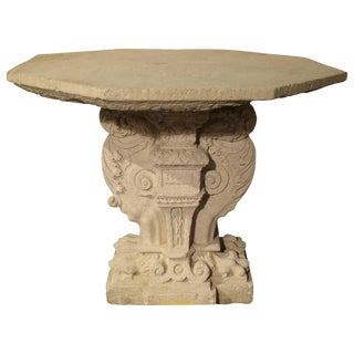 Period Renaissance Carved Stone Table From the South of France, 1570 For Sale