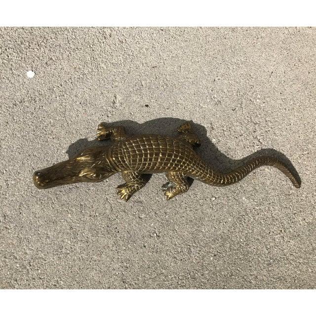 Vintage brass alligator bottle opener chairish - Alligator bottle opener ...