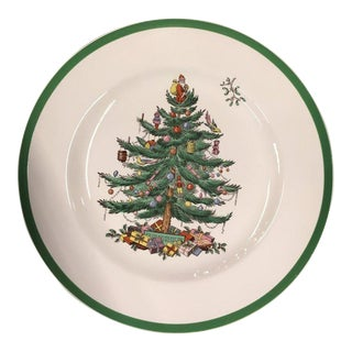 """20th Century Traditional Spode England """"Christmas Tree"""" Dinner Plate For Sale"""