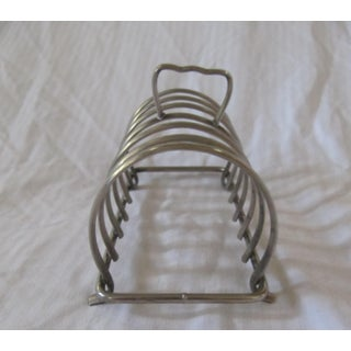 Vintage Silverplate Toast Rack 6 Slots Preview