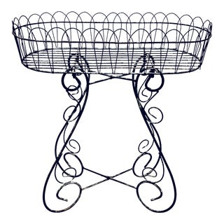 Antique Victorian Wirework Plant Stand For Sale