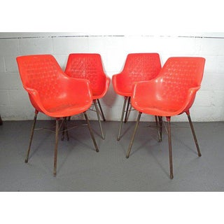 1960s Mid Century Modern Plastic Dining Chairs - Set of 4 Preview