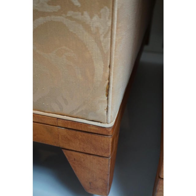 Orange Fortuny Style Club Chairs-A Pair For Sale - Image 8 of 10