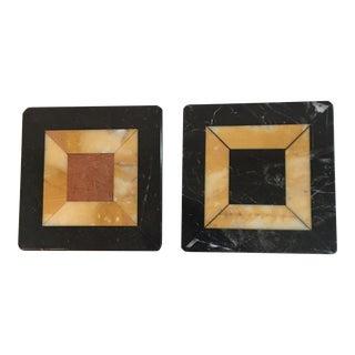 Specimen Marble Tiles - A Pair