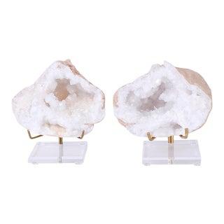 Quartz Geode Specimens - A Pair For Sale
