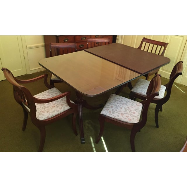 Henredon Henredon Heritage Regency Style Dining Table and Chairs - Set of 7 For Sale - Image 4 of 7