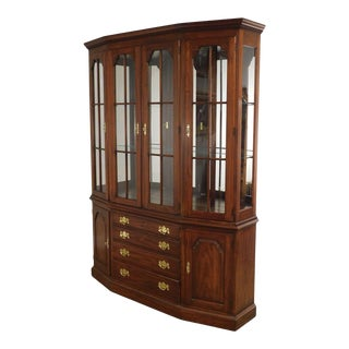 Henkel Harris Solid Cherry Traditional Breakfront China Cabinet For Sale