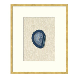 Curated Kravet Blue Geode Tall Art Print For Sale