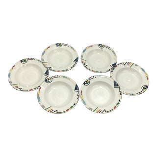 Mikasa Headline Large Rim Soup Bowls - Set of 6