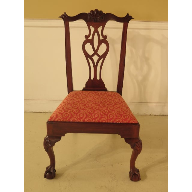 43475e Henkel Harris #112 Ball & Claw Mahogany Dining Room Chairs - Set of 8 For Sale - Image 9 of 11