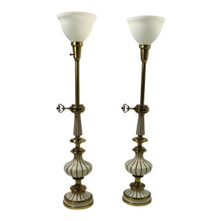 Hollywood Regency Style Table Lamps by Stiffel - a Pair For Sale