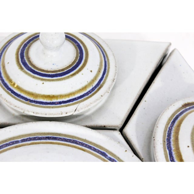 1970s Mid-Century Modern Ceramic Pottery Canisters - Set of 7 For Sale - Image 4 of 8