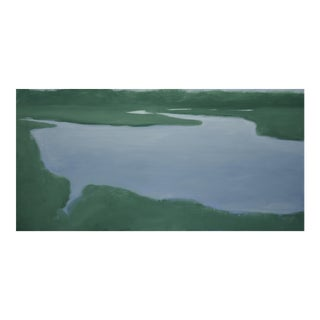 Salt Water Inlet Landscape Painting For Sale