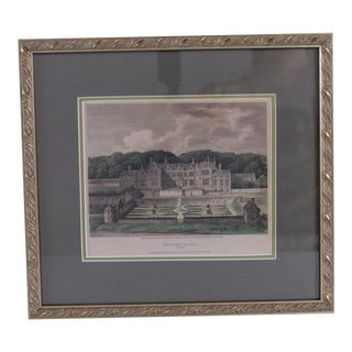 19th Century Antique Framed Oxnead Hall Print For Sale