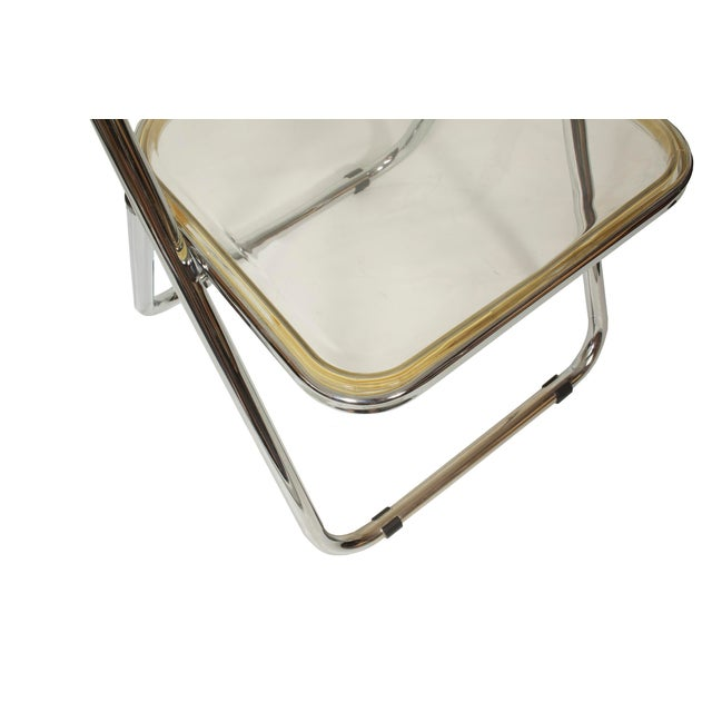 Italian Mid-Century Lucite Folding Chairs - Set of 4 For Sale - Image 6 of 9