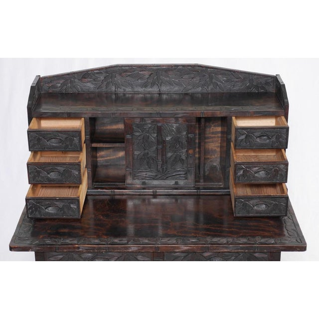 Oriental Writing Desk & Chair - Image 5 of 6