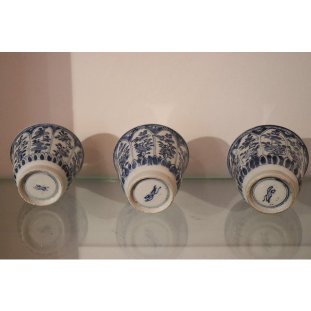 19th Century Set of Three China Ceramic Cups For Sale - Image 6 of 8