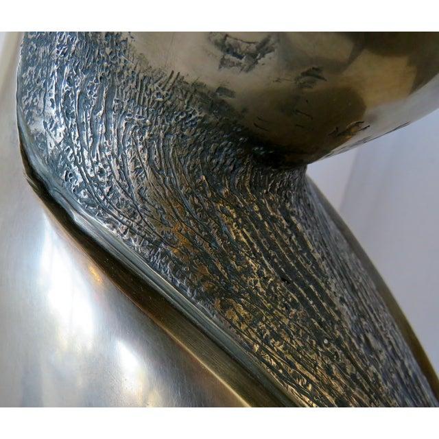 Metal Bronze Sculpture For Sale - Image 7 of 13