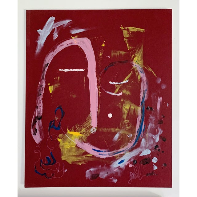 """2010s """"Calm Dispenser"""" Contemporary Abstract Acrylic Painting For Sale - Image 5 of 5"""