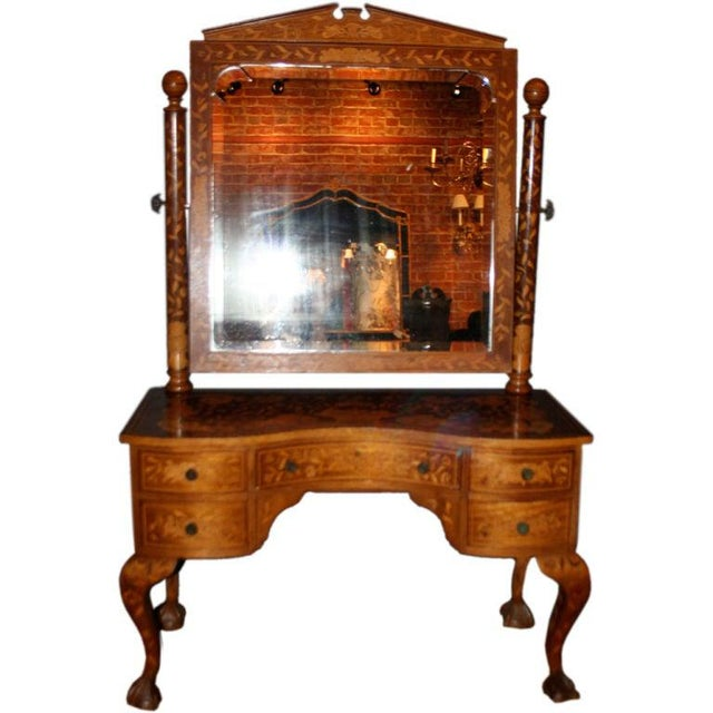 Late 19th Century Dutch Marquetry Dressing Table For Sale - Image 11 of 11