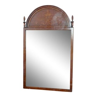 Vintage Inlaid Mahogany Wall Mirror For Sale