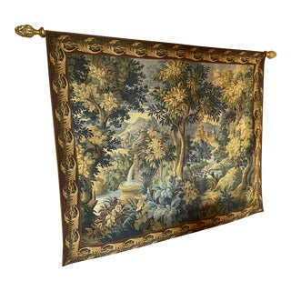 French Tapestry by Point Genre Gobelins For Sale
