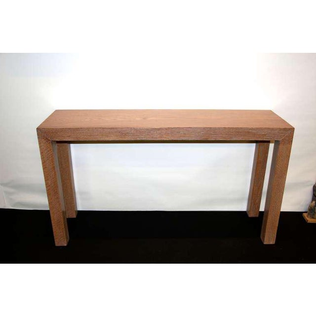 Cerused Solid Oak Console For Sale In Palm Springs - Image 6 of 6