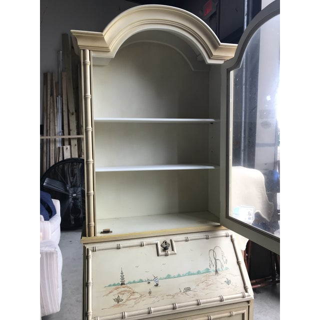 Faux Bamboo Secretary & Hutch For Sale In Charleston - Image 6 of 7