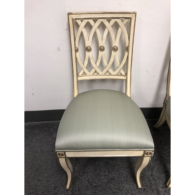 Gold Horchow Maitland-Smith Pillar Chairs - a Pair For Sale - Image 7 of 13