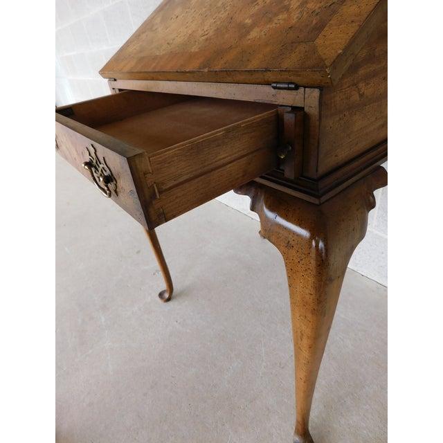 """Weiman Georgian Queen Anne Style Walnut Slant Front Writing Desk 41""""h X 26""""w For Sale In Philadelphia - Image 6 of 12"""