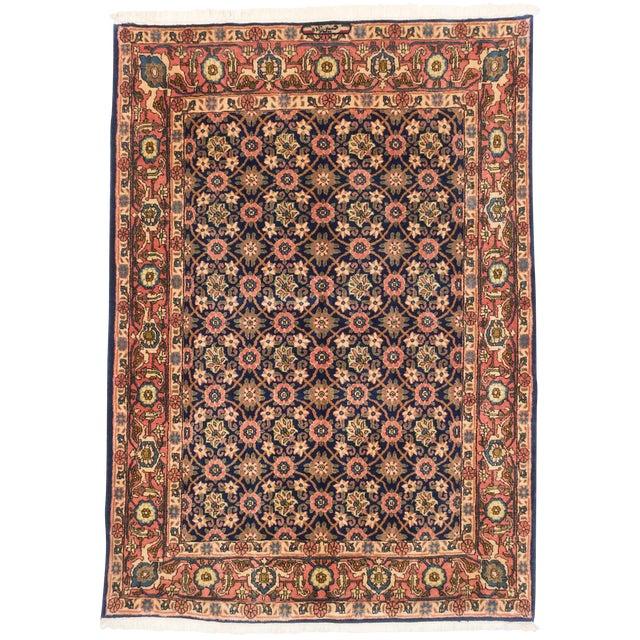 """Varamin Vintage Persian Rug, 4'11"""" x 6'9"""" - Image 1 of 2"""