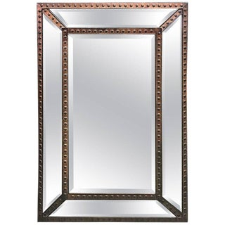 Industrial Copper Riveted Mirror For Sale