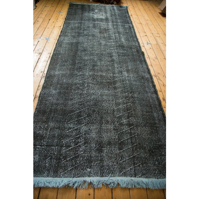 """Vintage Overdyed Distressed Runner - 4'8"""" x 12'6"""" - Image 6 of 9"""