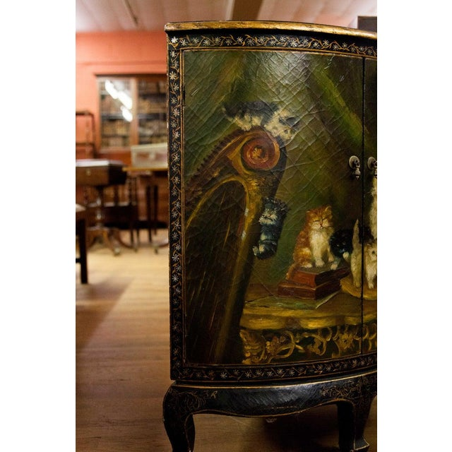 English 19th Century Painted Corner Cupboard For Sale - Image 3 of 10
