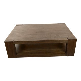 Crate & Barrel Contemporary Wood Coffee Table