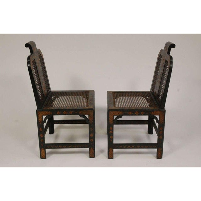 Wood Chinoiserie Seating Suite For Sale - Image 7 of 10