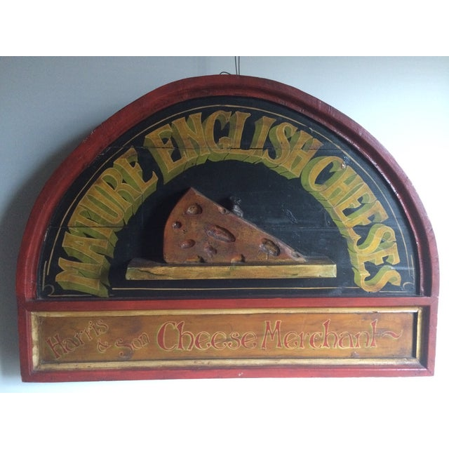 Vintage Cheese Sign - Image 2 of 5