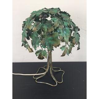 Italian Tree-Shaped Tole Lamp
